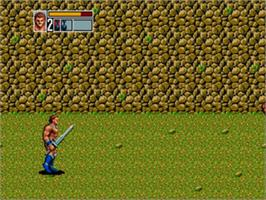 In game image of Golden Axe III on the Sega Genesis.
