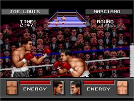 In game image of Greatest Heavyweights on the Sega Genesis.