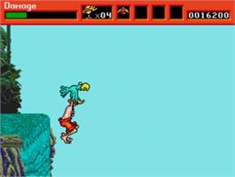 In game image of Greendog: The Beached Surfer Dude on the Sega Genesis.