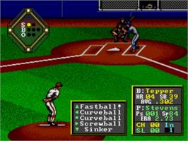 In game image of HardBall on the Sega Genesis.