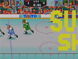 In game image of Hit The Ice on the Sega Genesis.