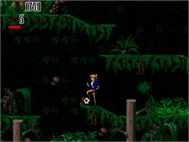 In game image of Hurricanes, The on the Sega Genesis.