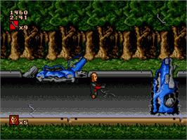 In game image of Incredible Crash Dummies, The on the Sega Genesis.