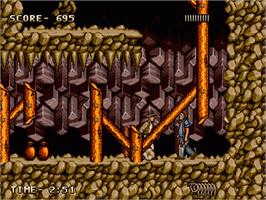 In game image of Indiana Jones and the Last Crusade: The Action Game on the Sega Genesis.