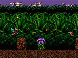 In game image of Insector-X on the Sega Genesis.