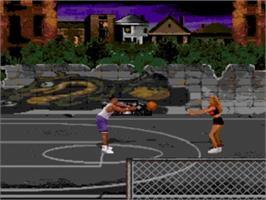 In game image of Jammit on the Sega Genesis.