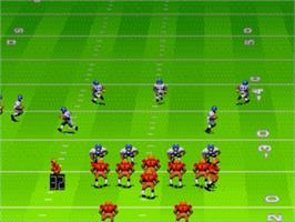 In game image of John Madden Football on the Sega Genesis.