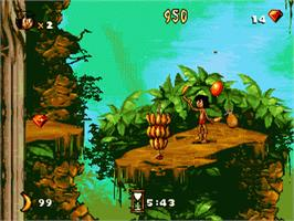 In game image of Jungle Book, The on the Sega Genesis.