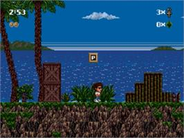 In game image of Kid Chameleon on the Sega Genesis.
