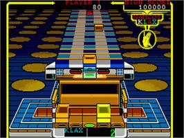 In game image of Klax on the Sega Genesis.