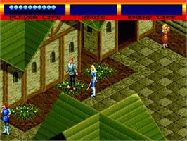 In game image of Light Crusader on the Sega Genesis.