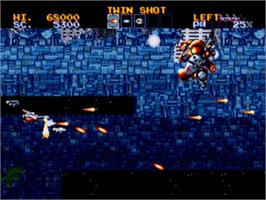 In game image of Lightning Force: Quest for the Darkstar on the Sega Genesis.