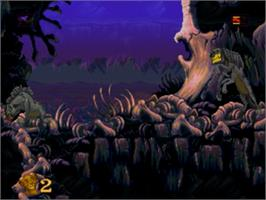 In game image of Lion King, The on the Sega Genesis.
