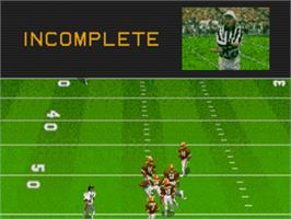 In game image of Madden NFL '95 on the Sega Genesis.