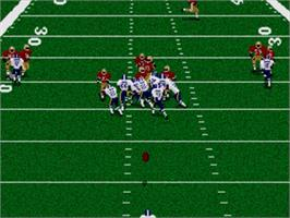 In game image of Madden NFL '96 on the Sega Genesis.