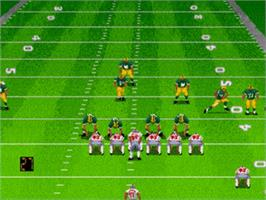In game image of Madden NFL '98 on the Sega Genesis.