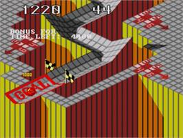 In game image of Marble Madness on the Sega Genesis.