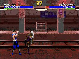 In game image of Mortal Kombat 3 on the Sega Genesis.