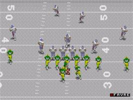 In game image of NFL 98 on the Sega Genesis.