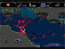 In game image of Nickelodeon: Aaahh!!! Real Monsters on the Sega Genesis.