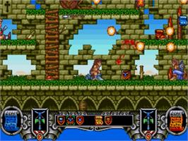 In game image of Onslaught on the Sega Genesis.