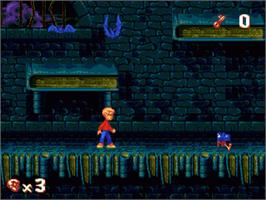 In game image of Pagemaster, The on the Sega Genesis.