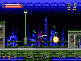 In game image of Phantom 2040 on the Sega Genesis.