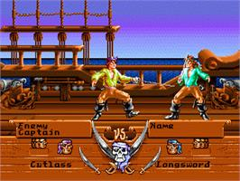 In game image of Pirates! Gold on the Sega Genesis.