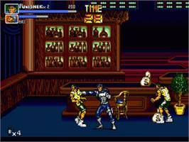 In game image of Punisher, The on the Sega Genesis.
