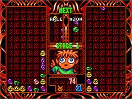 In game image of Puyo Puyo 2 on the Sega Genesis.