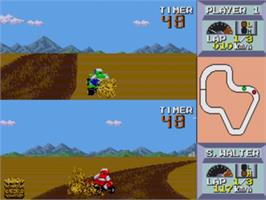 In game image of Quad Challenge on the Sega Genesis.