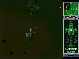 In game image of Red Zone on the Sega Genesis.