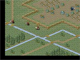 In game image of Romance of the Three Kingdoms III: Dragon of Destiny on the Sega Genesis.