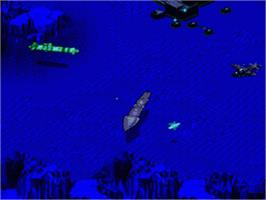 In game image of SeaQuest DSV on the Sega Genesis.