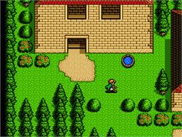 In game image of Shining Force 2 on the Sega Genesis.