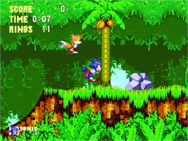 In game image of Sonic The Hedgehog 3 on the Sega Genesis.