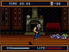 In game image of Splatter House 3 on the Sega Genesis.