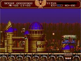 In game image of Steel Empire, The on the Sega Genesis.