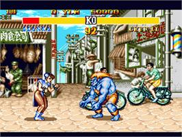 In game image of Street Fighter II' - Champion Edition on the Sega Genesis.