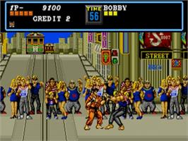 In game image of Street Smart on the Sega Genesis.