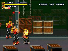 In game image of Streets of Rage 3 on the Sega Genesis.