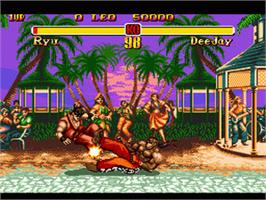 In game image of Super Street Fighter II - The New Challengers on the Sega Genesis.