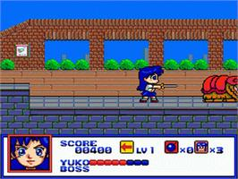 In game image of Syd of Valis on the Sega Genesis.