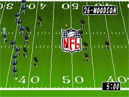 In game image of Tecmo Super Bowl II: Special Edition on the Sega Genesis.