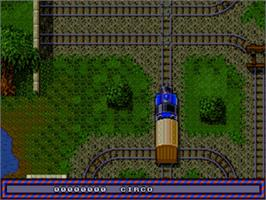In game image of Thomas the Tank Engine & Friends on the Sega Genesis.