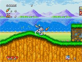 In game image of Tiny Toon Adventures: Buster's Hidden Treasure on the Sega Genesis.