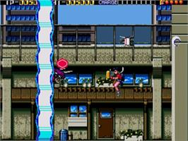 In game image of Trouble Shooter on the Sega Genesis.