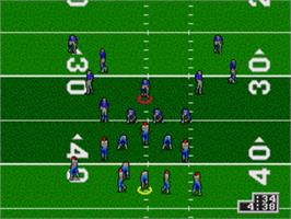 In game image of Unnecessary Roughness '95 on the Sega Genesis.