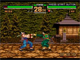 In game image of Virtua Fighter 2 on the Sega Genesis.