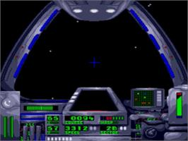 In game image of Warpspeed on the Sega Genesis.